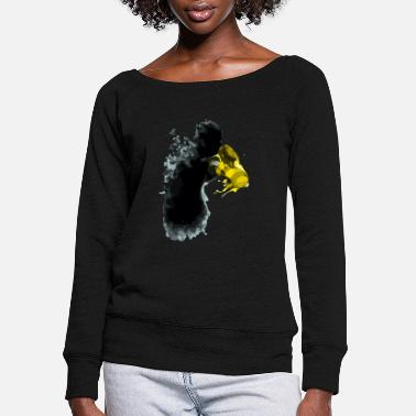Stinger the butterflies and the gloves of stingers - Women's Wide-Neck Sweatshirt
