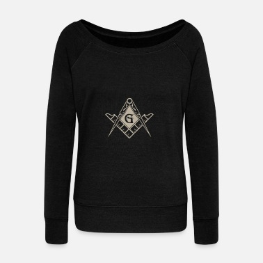 Freemasons Freemason Logo Square Compass Symbol - Women's Wideneck Sweatshirt