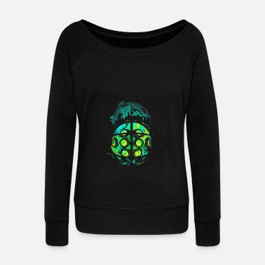 Protector Face of the Protector - Women's Wide-Neck Sweatshirt