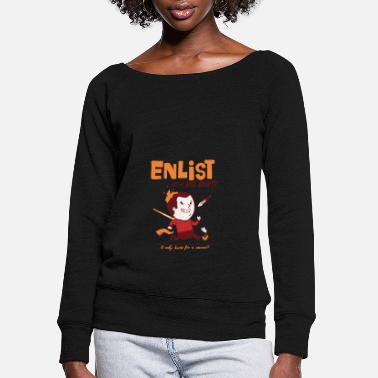Enlisted Enlist - Women's Wide-Neck Sweatshirt