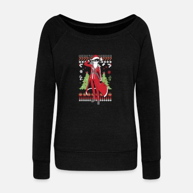 Ugly Christmas sweater for Kirito lover - Women's Wide-Neck Sweatshirt