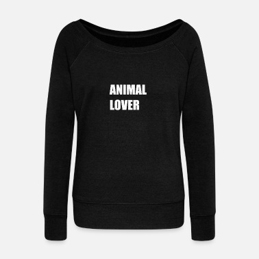 Animal Lover ANIMAL LOVER - Women's Wideneck Sweatshirt