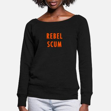 Logo REBEL SCUM - Women's Wide-Neck Sweatshirt