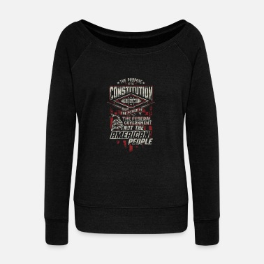 Constitutional Constitution - Constitution - the purpose of the - Women's Wide-Neck Sweatshirt