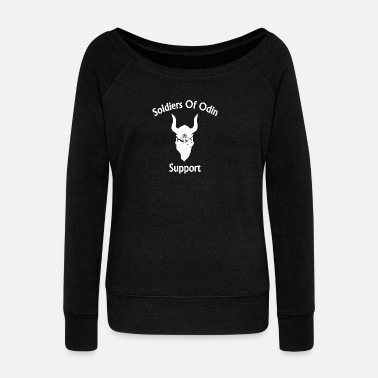 Soldiers Soldiers Of Odin Worldwide Support 2 - Women's Wideneck Sweatshirt