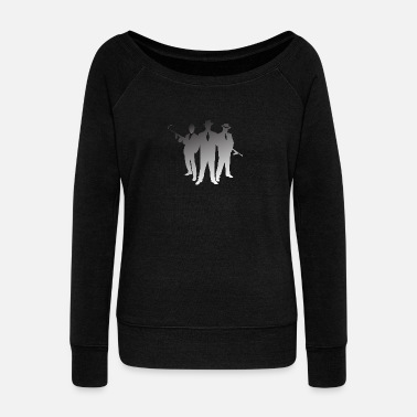 Gangster Mafia Mafia Gangster - Women's Wide-Neck Sweatshirt