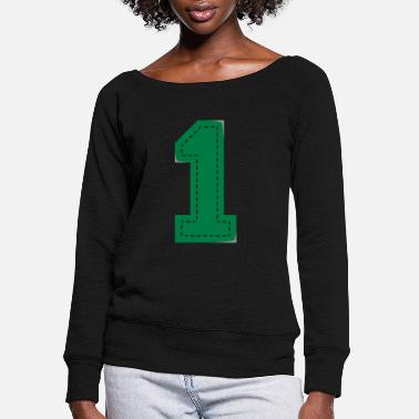 Siblings Number One Patch - Women's Wide-Neck Sweatshirt
