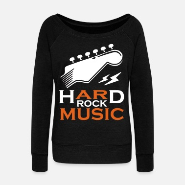 Punk Rock Hard Rock Musik Cooles Geschenk Shirt Grunge Shirt - Women's Wide-Neck Sweatshirt