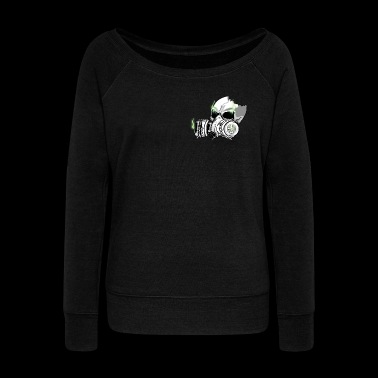 Skull Gas Mask - Women's Wideneck Sweatshirt