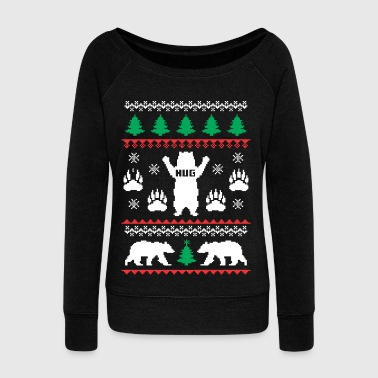 Bear Hug Festive - Women's Wideneck Sweatshirt