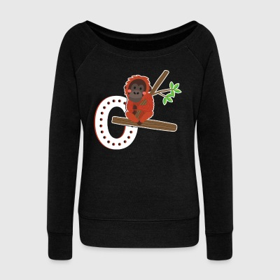 Orangutan Shirt - Women's Wideneck Sweatshirt
