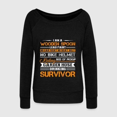 Survivor Shirt - Women's Wideneck Sweatshirt