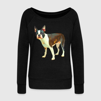 Boston Terrier Shirt - Women's Wideneck Sweatshirt