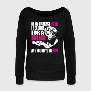 Beagle Tshirt - Women's Wideneck Sweatshirt