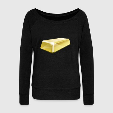 gold bar - Women's Wideneck Sweatshirt