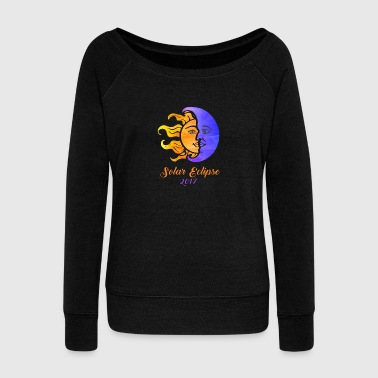 solar eclipse - Women's Wideneck Sweatshirt