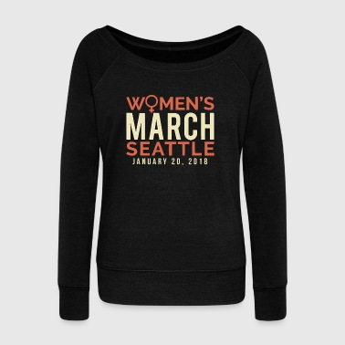 Seattle Washington Women's March January 20 2018 - Women's Wideneck Sweatshirt