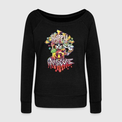 Happy Hardcore - Women's Wideneck Sweatshirt