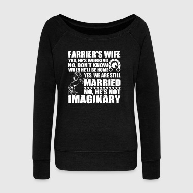 Farrier's Wife T Shirt - Women's Wideneck Sweatshirt
