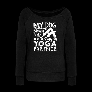 Yoga Tee Shirt - Women's Wideneck Sweatshirt
