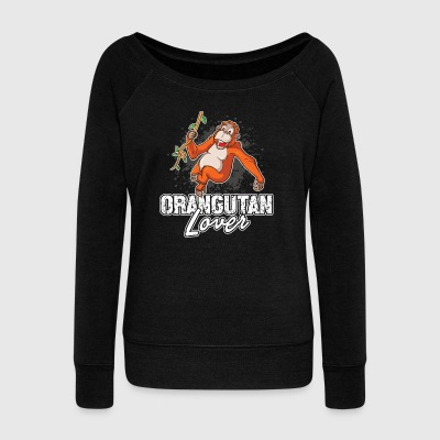 ORANGUTAN LOVER SHIRT - Women's Wideneck Sweatshirt