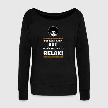black girl designs - Women's Wideneck Sweatshirt