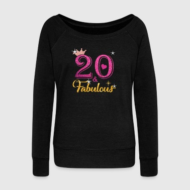 20 Fabulous Queen Shirt 20th Birthday Gifts - Women's Wideneck Sweatshirt