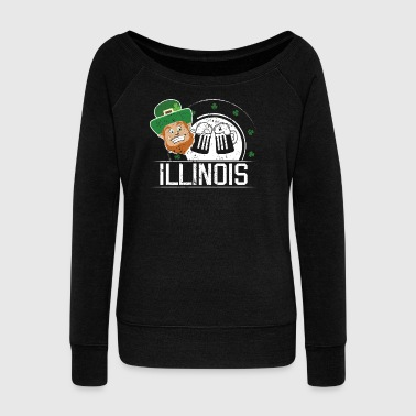 St Pattys Day Girl Illinois St Patricks Women Shamrock - Women's Wideneck Sweatshirt
