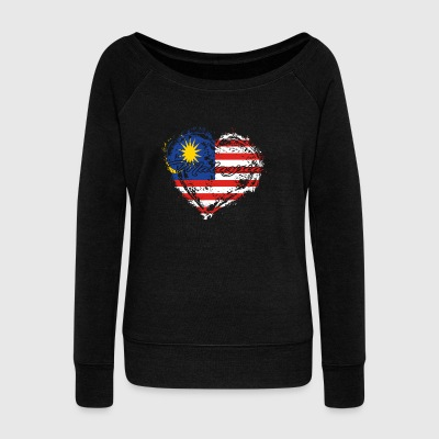 HOME ROOTS COUNTRY GIFT LOVE Malaysia - Women's Wideneck Sweatshirt