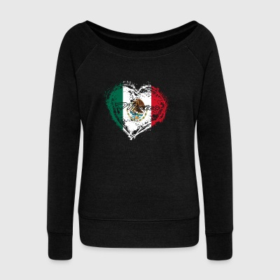 HOME ROOTS COUNTRY GIFT LOVE Mexico - Women's Wideneck Sweatshirt