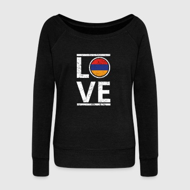 roots love heimat herkunft queen Armenien - Women's Wideneck Sweatshirt
