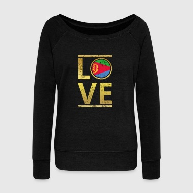 roots love home geschenk queen Eritrea - Women's Wideneck Sweatshirt