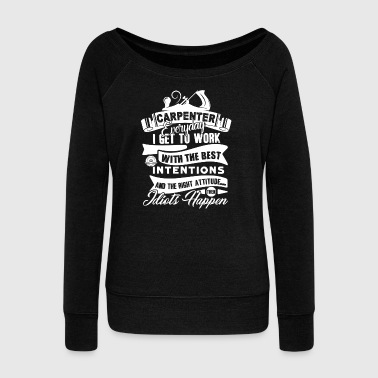 Awesome Carpenter Shirt - Women's Wideneck Sweatshirt