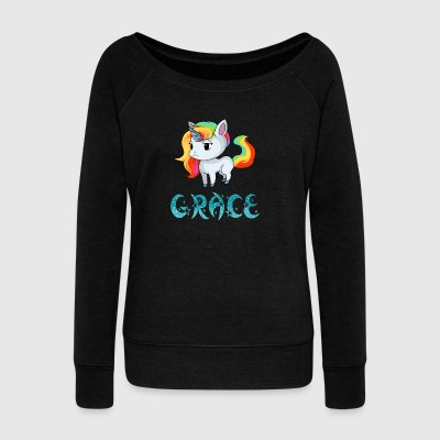 Grace Unicorn - Women's Wideneck Sweatshirt