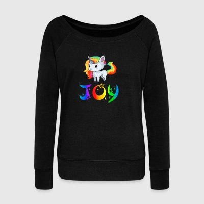 Joy Unicorn - Women's Wideneck Sweatshirt