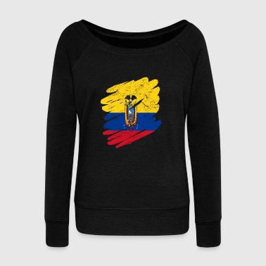 Pinsel Land Heimat Ecuador - Women's Wideneck Sweatshirt