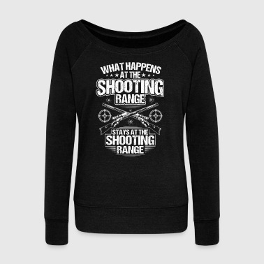 Gun Club - Shooting Range - Shooter - Gift/Present - Women's Wideneck Sweatshirt