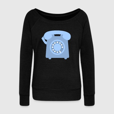 telephone telefon phone handy communication - Women's Wideneck Sweatshirt
