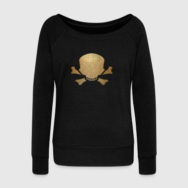 skull and bone - Women's Wideneck Sweatshirt