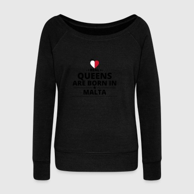GESCHENK QUEENS LOVE FROM MALTA - Women's Wideneck Sweatshirt