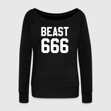 Beast 666 - Women's Wideneck Sweatshirt