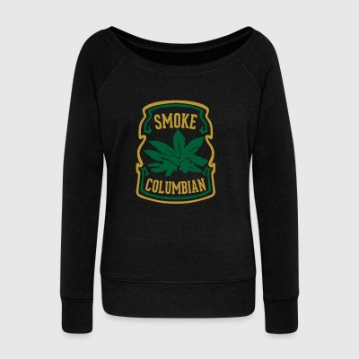 SMOKE COLUMBIAN 70s Vintage t-shirt - Women's Wideneck Sweatshirt