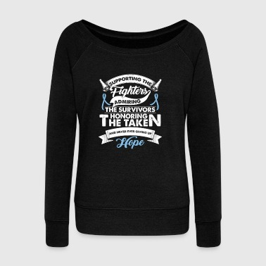 Supporting The Fighters Prostate Cancer | - Women's Wideneck Sweatshirt