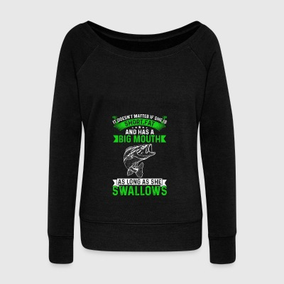 Angling - Fishing - Gift - angler - Women's Wideneck Sweatshirt