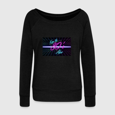 80s - Women's Wideneck Sweatshirt