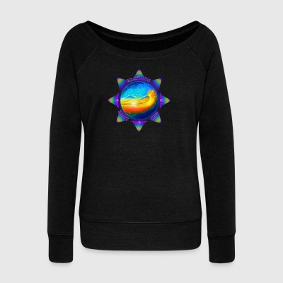 gratitude and love - Women's Wideneck Sweatshirt