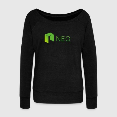 Neo Cryptocurrency logo - Women's Wideneck Sweatshirt