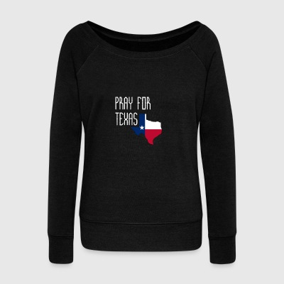 PRAY FOR TEXAS - PEACE LOVE - Women's Wideneck Sweatshirt