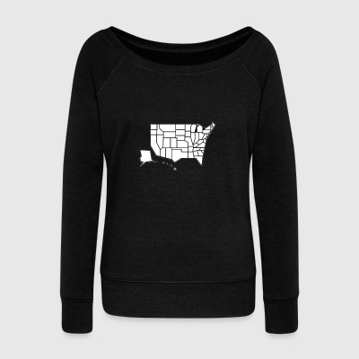 Straight Map - Women's Wideneck Sweatshirt