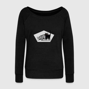Cat Celebrates Mole Day - Women's Wideneck Sweatshirt